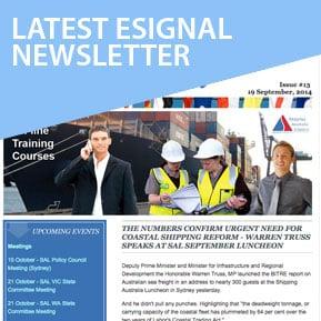 Shipping Australia E Signal Newsletter